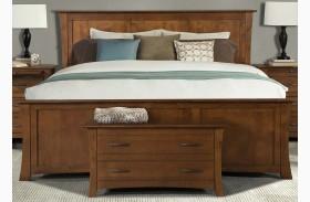Grant Park Pecan Panel Bed