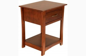 Grant Park Pecan Finish Drawer Nightstand