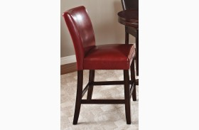 Hartford Red Finish Counter Chair Set of 2
