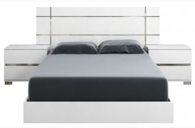 Vivente Icon White High Gloss Platform Bed