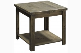 Joshua Creek Barnwood Finish End Table