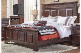 Kalispell Rustic Mahogany Mantel Bed