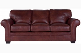 Zachary Leather Bark Top Grain Leather Sofa