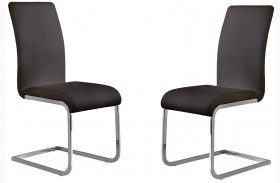 Amanda Black Finish Side Chair Set Of 2