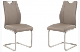 Bravo Stainless Steel Side Chair Set Of 2