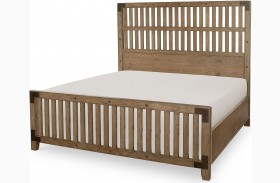 Metalworks Factory Chic Wood Gate Panel Bed