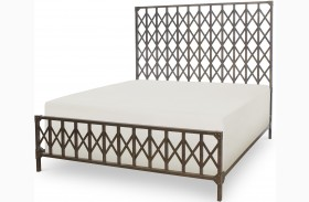 Metalworks Factory Chic Metal Panel Bed