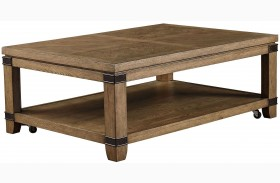 Metalworks Factory Chic Rectangular Cocktail Table