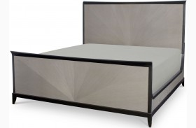 Symphony Platinum & Black Tie Panel Bed