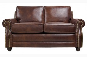 Levi Italian Leather Loveseat