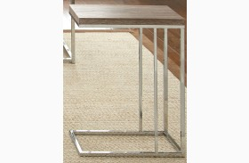 Lucia Brown Finish Chairside End Table