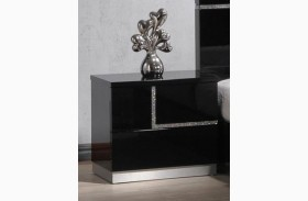Lucca Black Lacquer Laf Nightstand