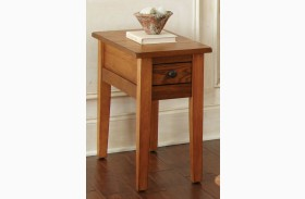 Liberty Golden Oak Finish Chairside End Table