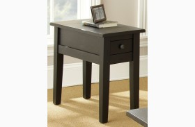 Liberty Antique Black Finish Chairside End Table