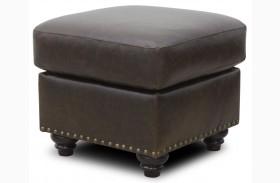 Mason Italian Leather Ottoman