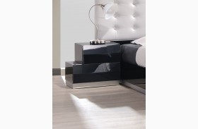 Milan Black Lacquer Laf Nightstand