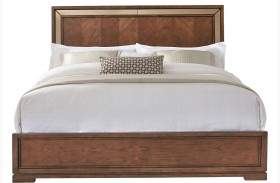 Chrystelle Cognac Finish Queen Panel Bed