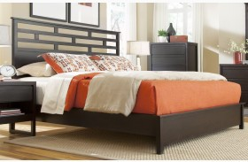 Athena Dark Chocolate Panel Bed