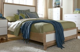 Hashtag Fun White Glaze Upholstered Bed
