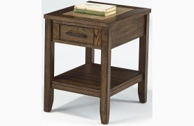 Forest Brook Ash Finish Chairside Table