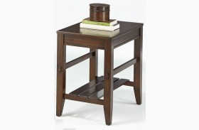 Jupiter Key Dark Cherry Finish Chairside Table