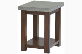 Cascade Nutmeg Birch Finish Chairside Table