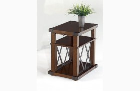 Landmark Vintage Ash Finish Chairside Table