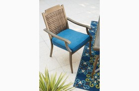 Partanna Blue and Beige Finish Chair Set of 4