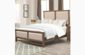 Bridgeport Weathered Acacia Finish Panel Bed