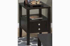 Hamilton Rich Dark Chairside Table