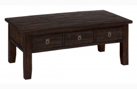 Kona Grove Rustic Chocolate Finish Rectangular Cocktail Table