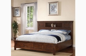 Restoration Rustic Walnut Platform Storage Bed