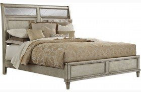 Cut Glass Silver Panel Bed
