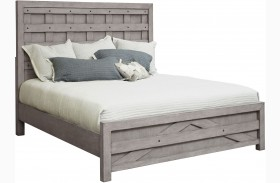 Prospect Hill Gray Pallet Panel Bed