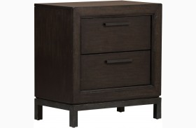 Fulton St. Brown Finish Nightstand