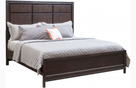 Fulton St. Brown Panel Bed
