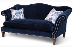 Studio Los Feliz Blue Finish Standard Sofa