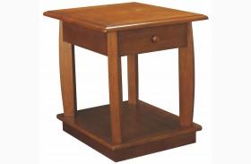 Ascend Medium Oak Rectangular End Table