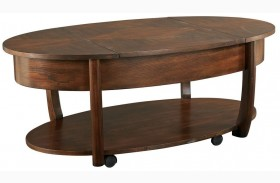 Concierge Medium Brown Lift-Top Cocktail Table