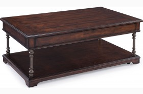 Butler Aged Tobacco Condo Cocktail Table With Casters