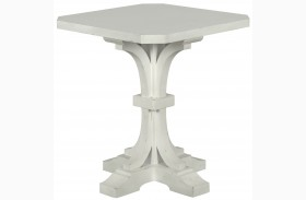 Hancock Park Vintage White Finish Square Accent End Table