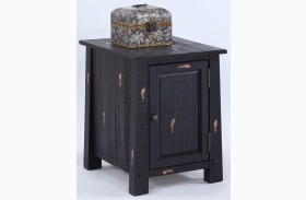 Willow Distressed Black Finish Chairside Cabinet