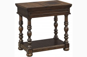 Brosana Brown Finish Chair Side End Table