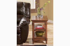 Cross Island Brown End Table