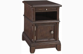 Lavidor Brown Finish Chair Side End Table
