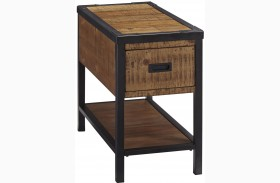 Kalean Two-Tone Finish Chair Side End Table