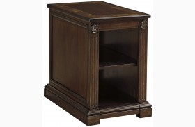 Lamonte Brown Finish Chair Side End Table