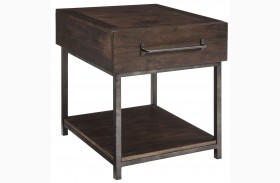 Starmore Brown Finish Rectangular End Table