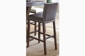 Tiffany Brown Finish Bar Chair Set of 2