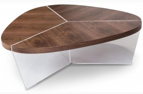 Trance Sector Brown Short Cocktail Table